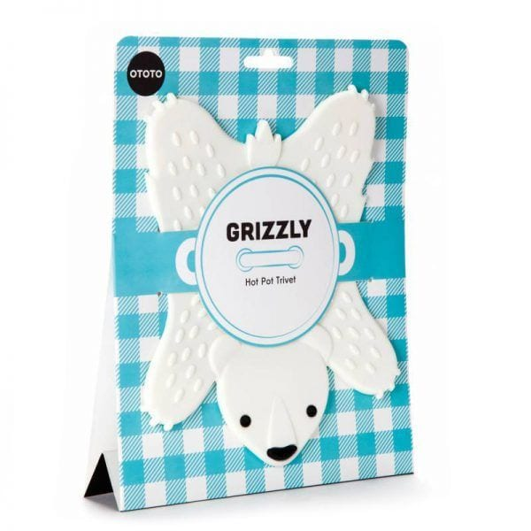 Sous-plat - Grizzly - Ototo Design - Songes - grizzly-blanc01