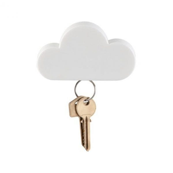 Support à clés - Nuage - Kikkerland - Songes - 1Piece-Key-Box-Creative-Home-Storage-Holder-White-Cloud-Shape-Magnetic-Magnet-Wall-Key-Holders