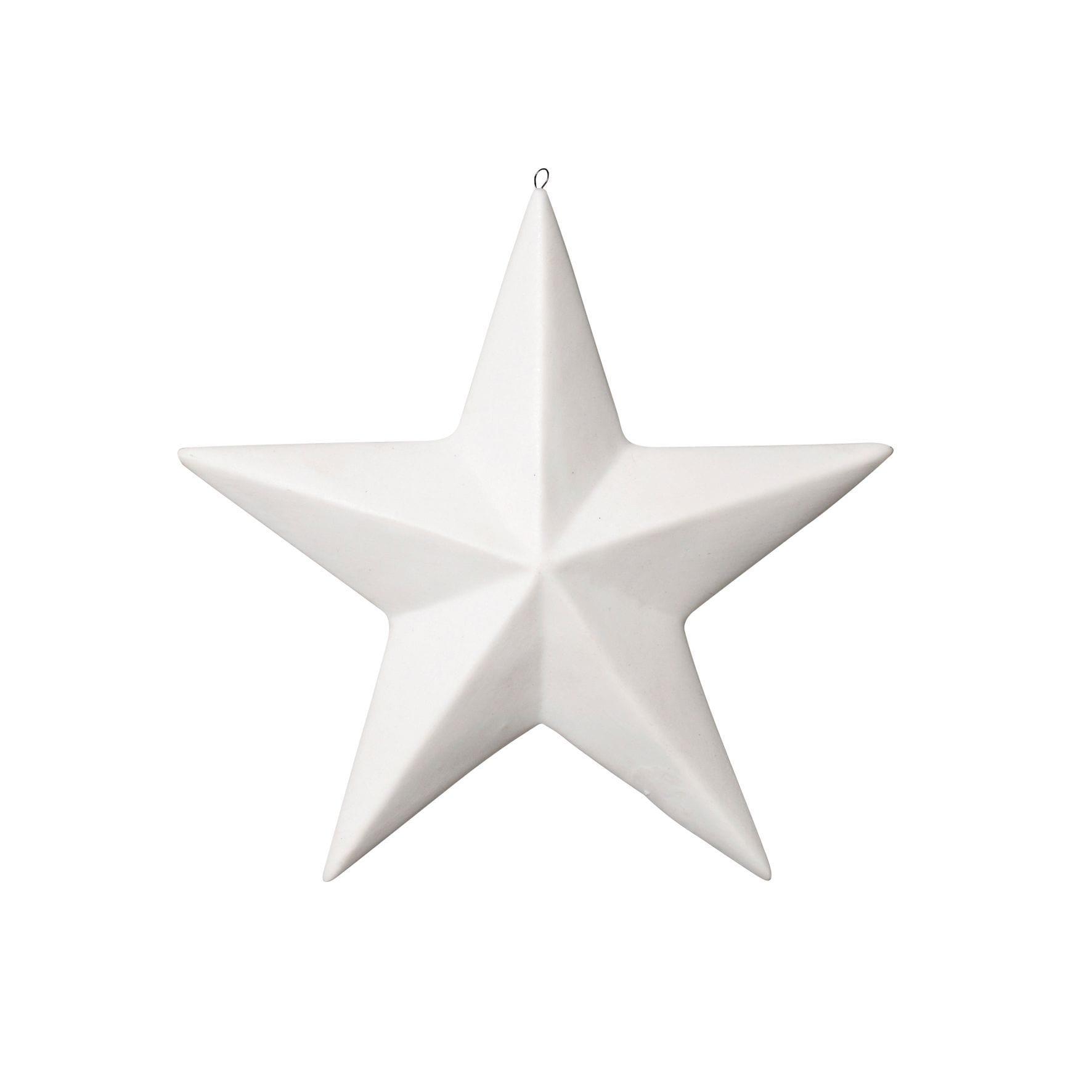 Étoile en porcelaine
