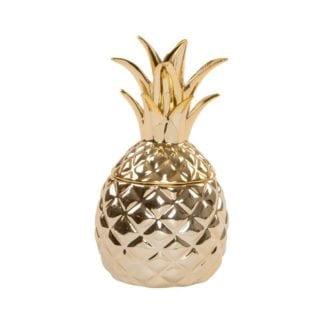 Boîte ananas - Doré