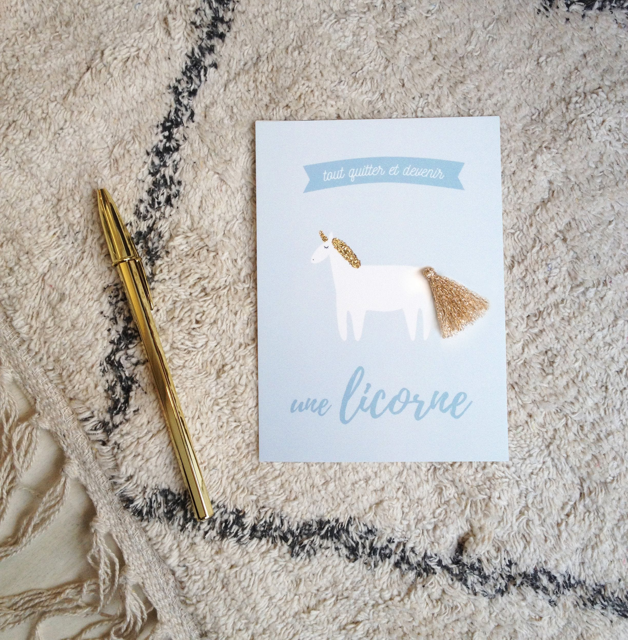 Carte de voeux - Licorne