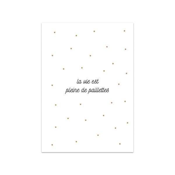 Carte de voeux - Paillettes - Songes - Songes - carte_paillettes
