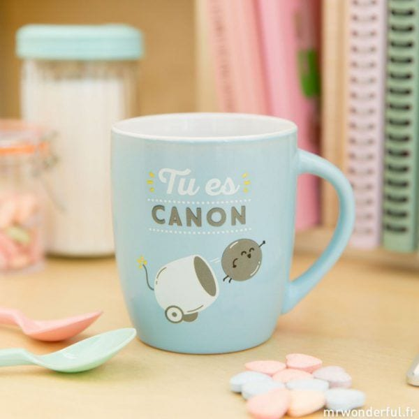 Mug - Tu es canon - Mr. Wonderful - Songes - mrwonderful_8435460709453_woa03785fr_tu-es-canon-fr-1