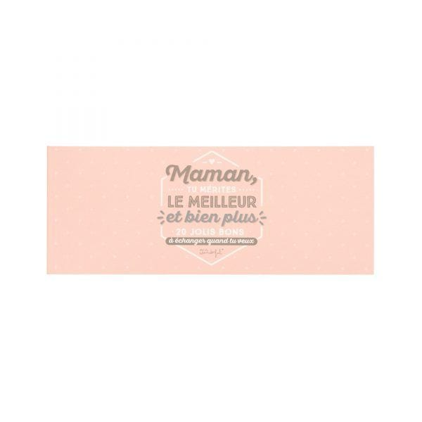 Chéquier - Maman - Mr. Wonderful - Songes - mrwonderful_8435460710985_vales_madre_Maman-tu-merites-le-meilleur-FR-1