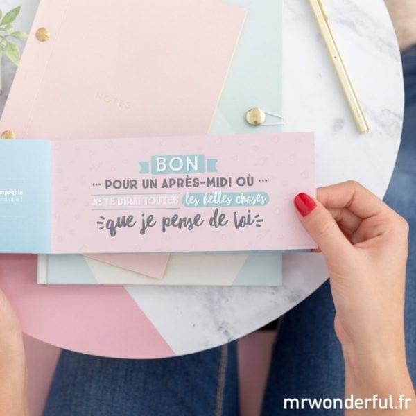 Chéquier - Maman - Mr. Wonderful - Songes - mrwonderful_8435460710985_vales_madre_maman-tu-merites-le-meilleur-fr-55-editar_1