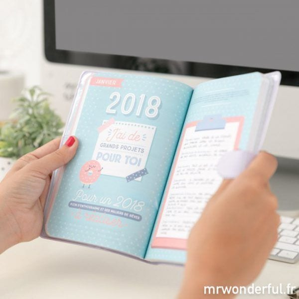 Agenda 2018 - Petit - Mr. Wonderful - Songes - mrwonderful_8435460715263_petit-agenda-2017-2018-semainier-la-belle-vie-fr-15_2