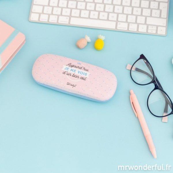 Étui à lunettes - Bon oeil - Mr. Wonderful - Songes - mrwonderful_8435460716772_funda_gafas-aujourdhui-je-me-vois-dun-bon-oeil-fr-2-editar