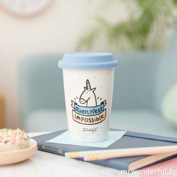 Mug à emporter - Impossible - Mr. Wonderful - Songes - mrwonderful_8435460725507_taza_take_away-rien-nest-impossible-fr-5