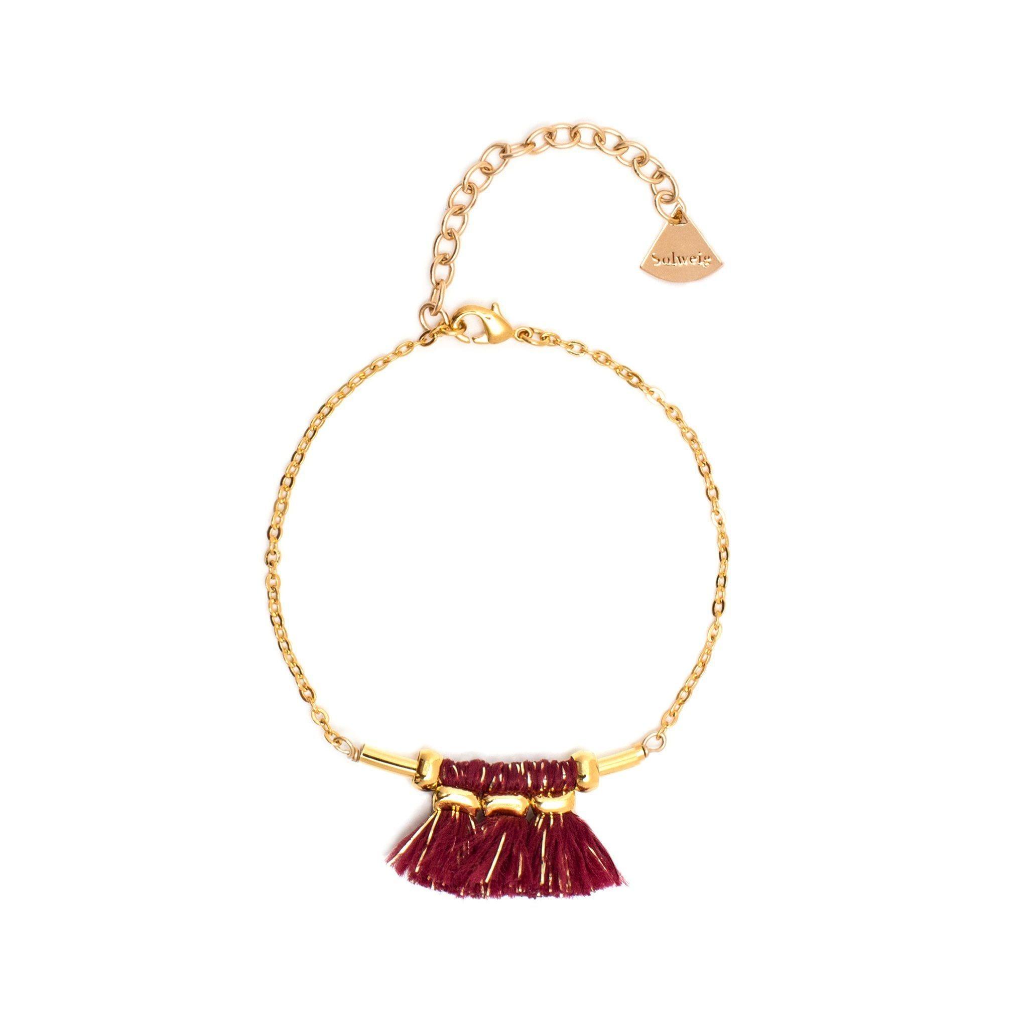 Bracelet Mira - Grenat/doré
