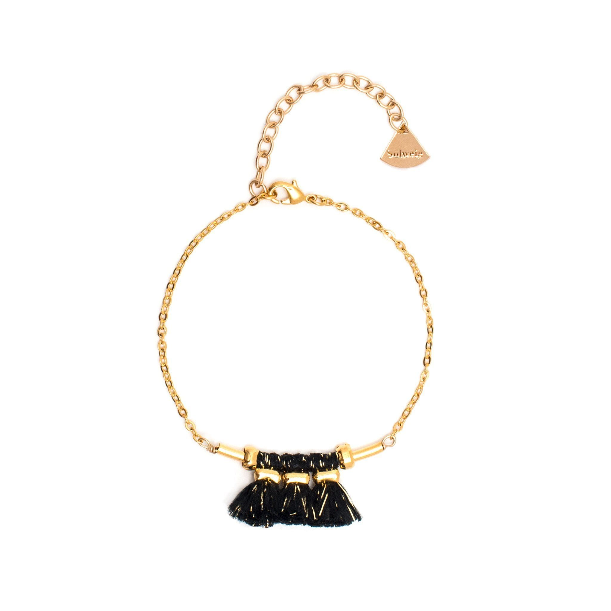 Bracelet Mira - Noir/doré