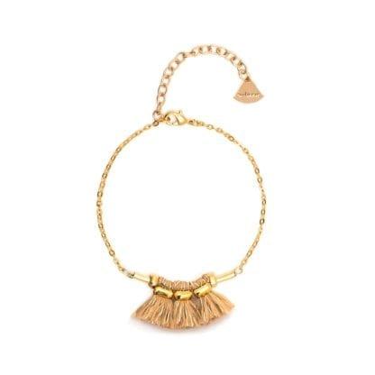 Bracelet Mira - Nude/doré