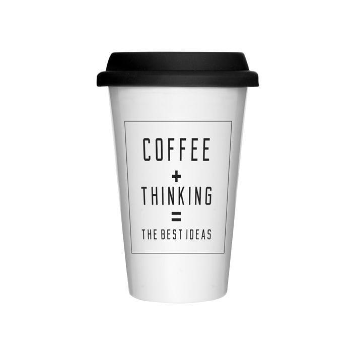 Mug à emporter - Coffee + thinking
