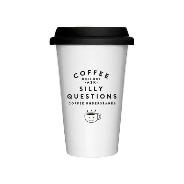 Mug à emporter - Silly questions - The Gift Label - Songes - take-away-silly-questions