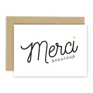 Carte de voeux - Merci