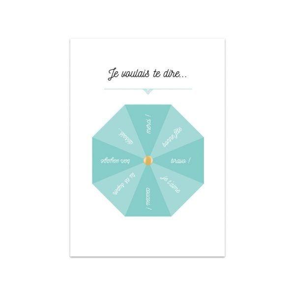 Carte de voeux - Je voulais te dire - Songes - Songes - carte-te-dire-roulette