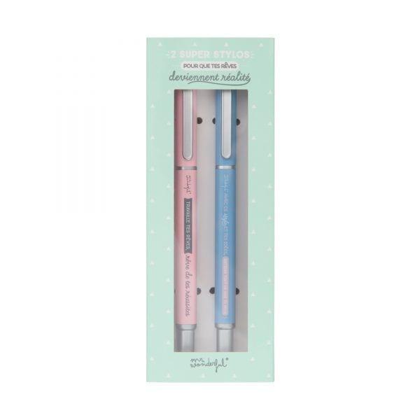 Set de 2 stylos - Mr. Wonderful - Songes - stylos-2pcs-01