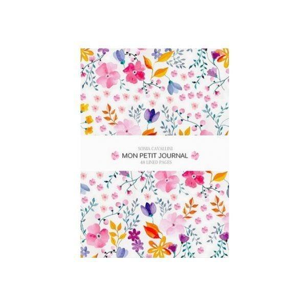 Carnet - Fleurs roses - Sonia Cavallini - Songes - NB0022