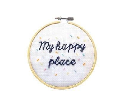 Kit à broder - Happy place