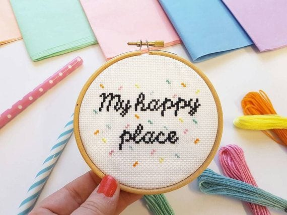 Kit à broder - Happy place - SewCross - Songes - happy-place02