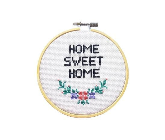 Kit à broder - Home sweet home - SewCross - Songes - home-sweet-home01