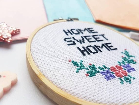 Kit à broder - Home sweet home - SewCross - Songes - home-sweet-home03