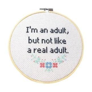 Kit à broder - Real adult