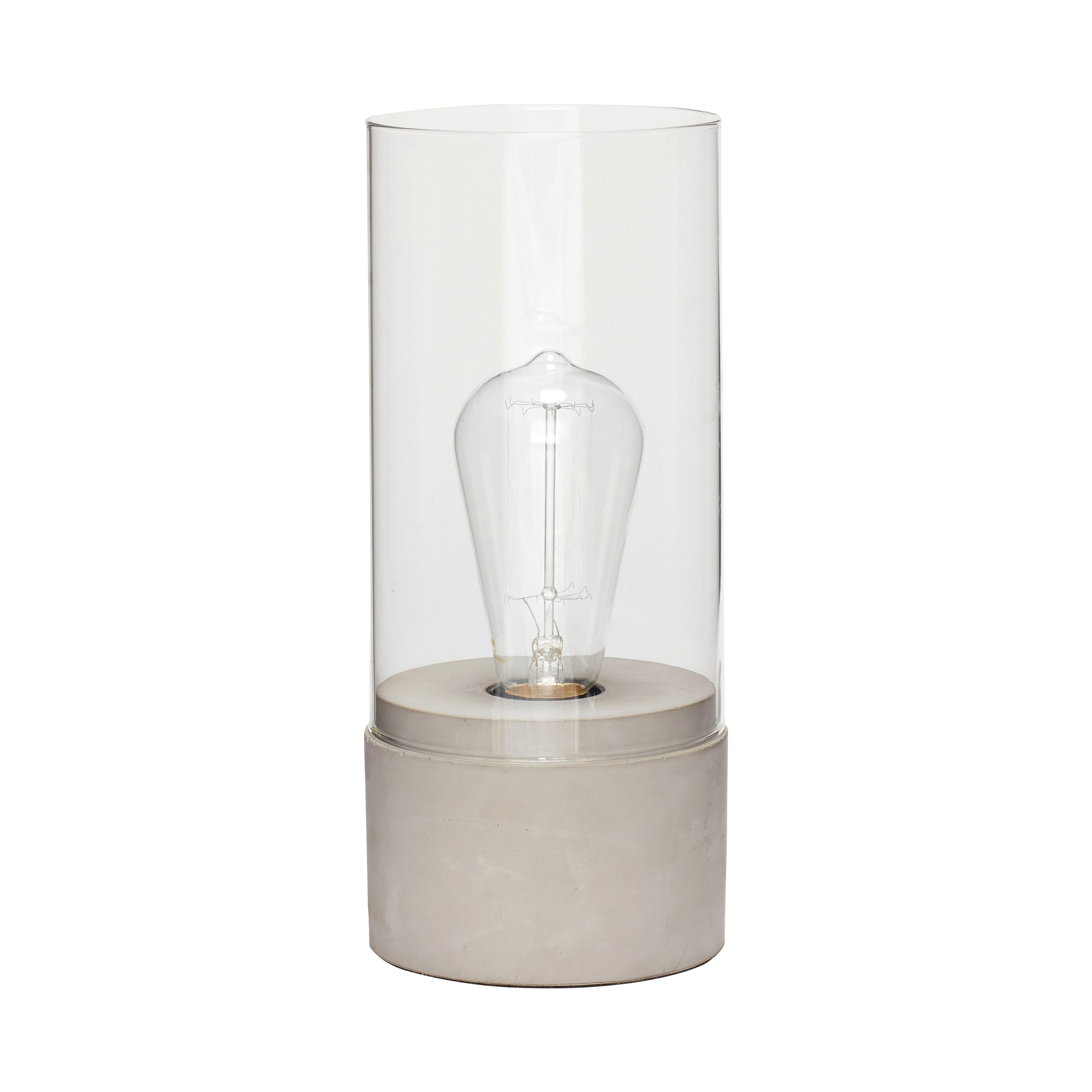 Lampe - Verre/Béton