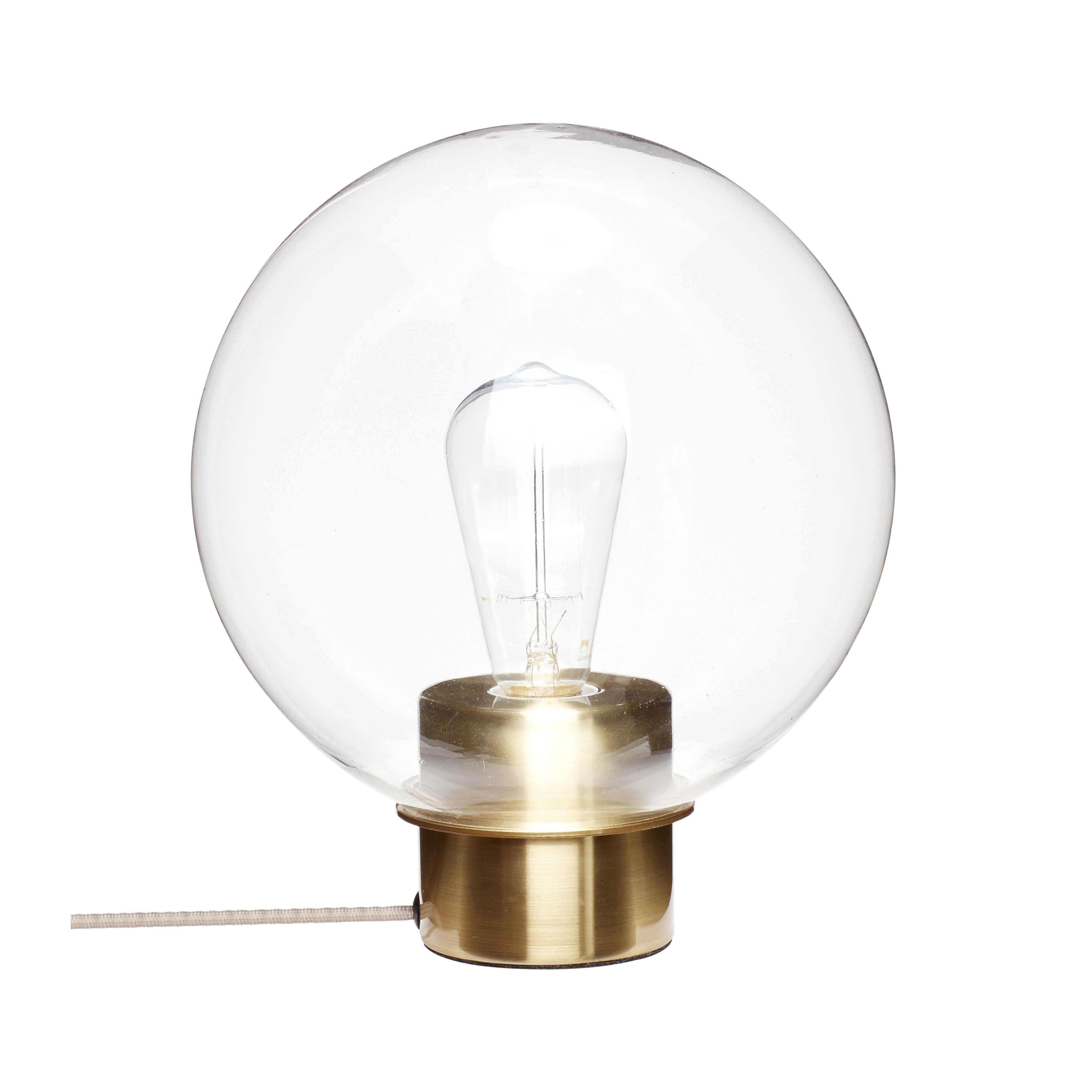 Lampe - Verre/Doré