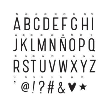 Lettres basiques