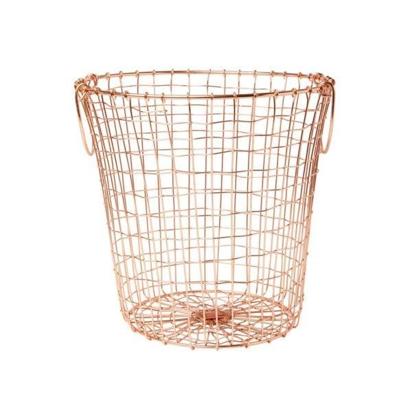 Panier métal - Cuivré - Sass & Belle - Songes - WIR240