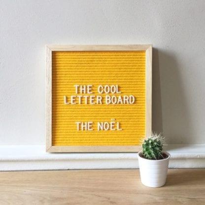 Letter board Noel - Jaune