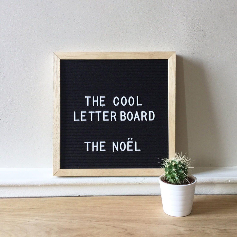 Letter board Noel - Noir