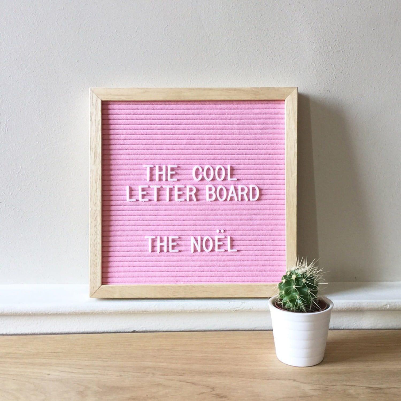 Letter board Noel - Rose