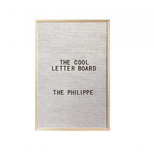 Letter board Philippe - Blanc - The Cool Company - Songes - letterboard-philippe-blanc01