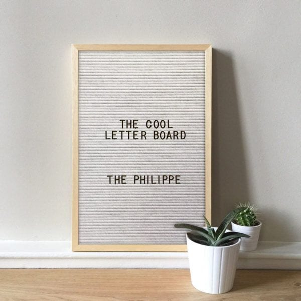 Letter board Philippe - Blanc - The Cool Company - Songes - letterboard-philippe-blanc02