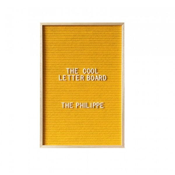 Letter board Philippe - Jaune - The Cool Company - Songes - letterboard-philippe-jaune01
