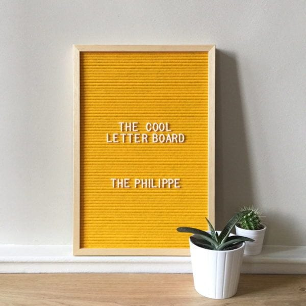 Letter board Philippe - Jaune - The Cool Company - Songes - letterboard-philippe-jaune02