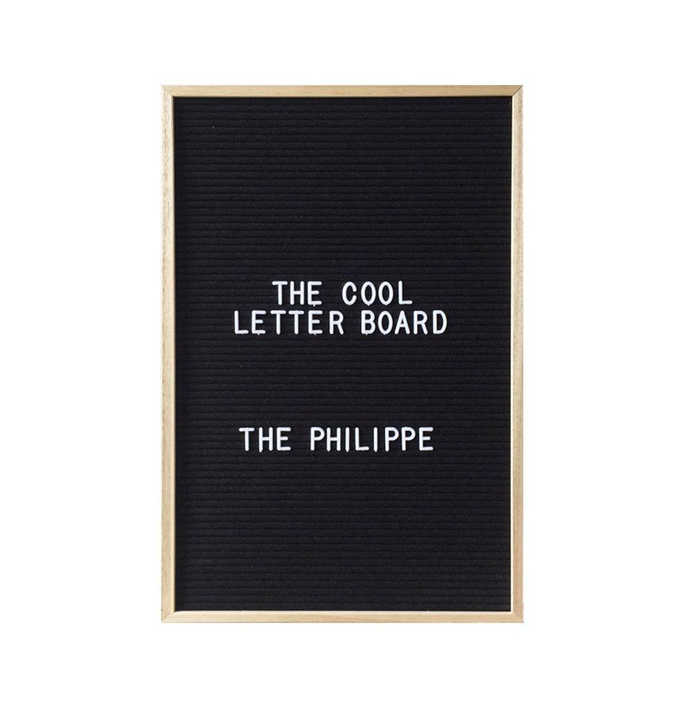 Letter board Philippe - Noir