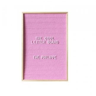 Letter board Philippe - Rose