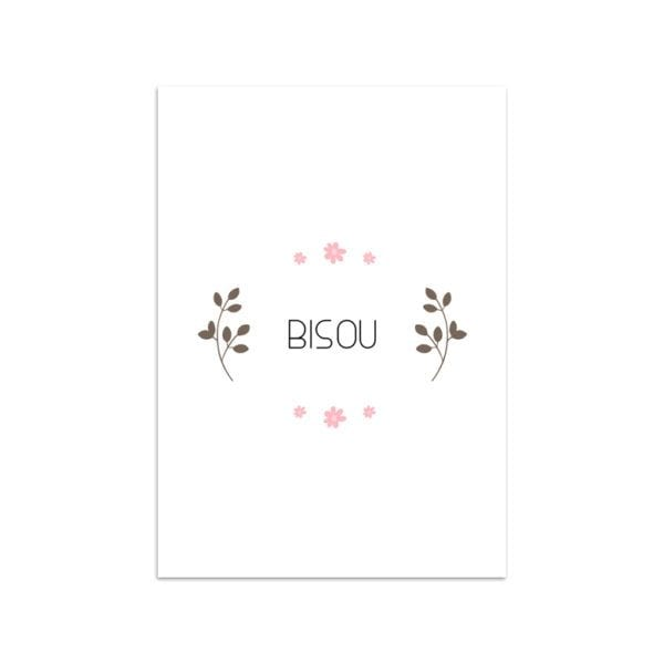 Carte de voeux - Bisou fleuri - Songes - Songes - carte-bisou-fleurs