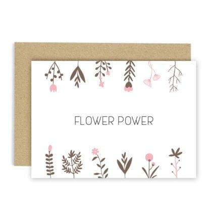 Carte de voeux - Flower power