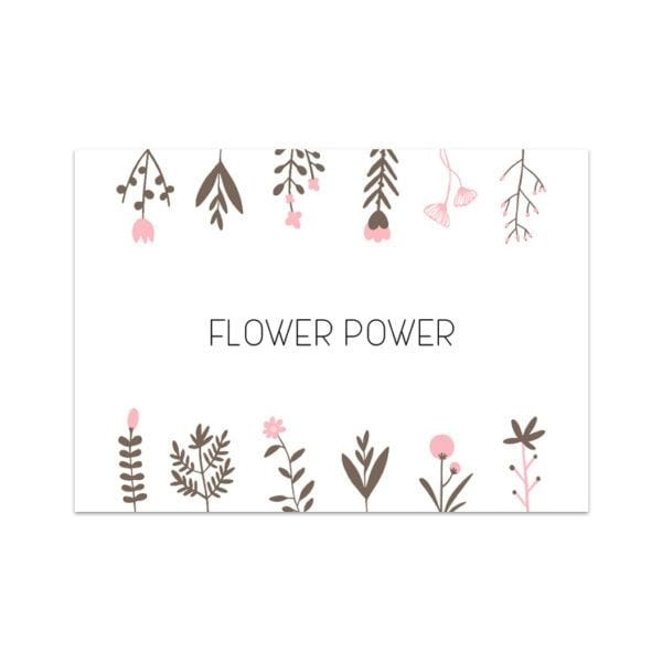 Carte de voeux - Flower power - Songes - Songes - carte-flower-power