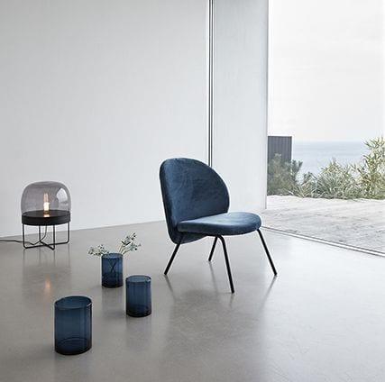 Fauteuil en velours - Bleu - Hübsch - Songes - 100609_3
