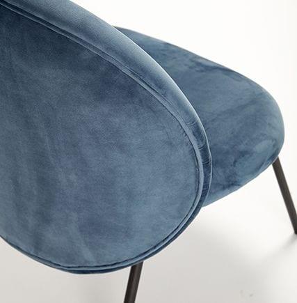 Fauteuil en velours - Bleu - Hübsch - Songes - 100609_4
