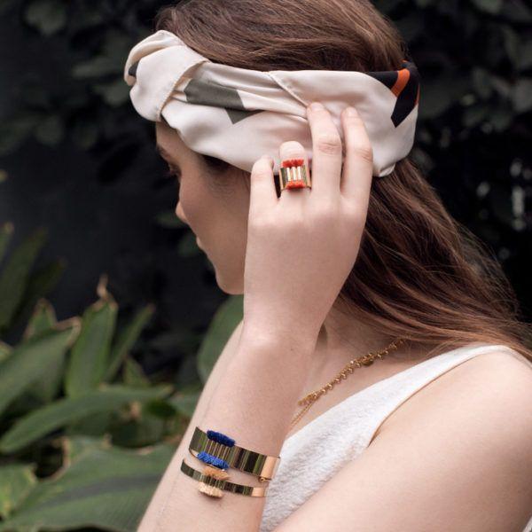 Bague Amazonas - Safran - Solweig Bijoux - Songes - bracelet-amazonas04