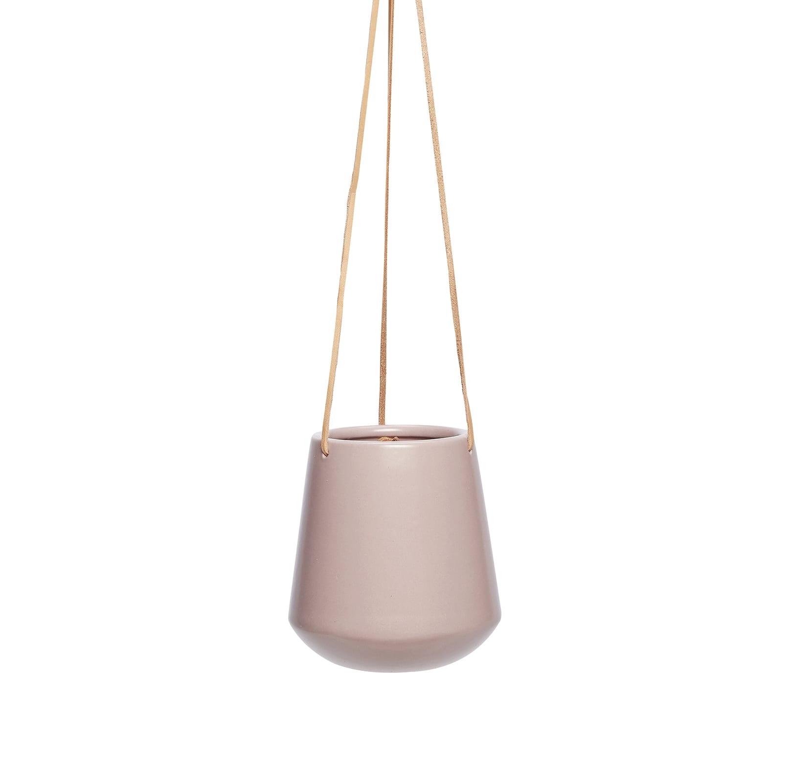cache pot suspendre mauve m vases pots songes. Black Bedroom Furniture Sets. Home Design Ideas