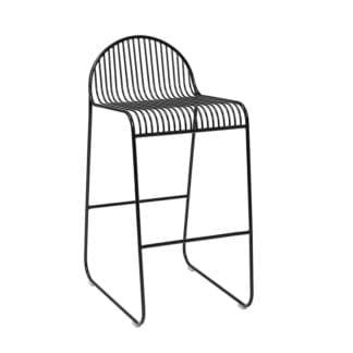 Chaise de bar - Métal noir