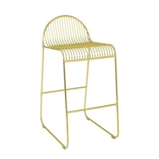 Chaise de bar - Métal doré