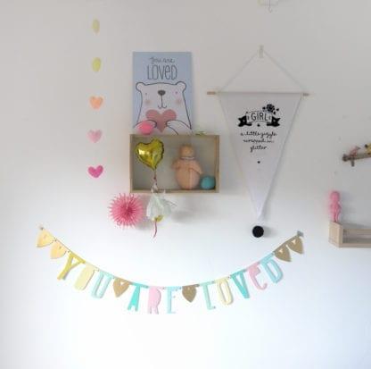Guirlande lettres - Pastel