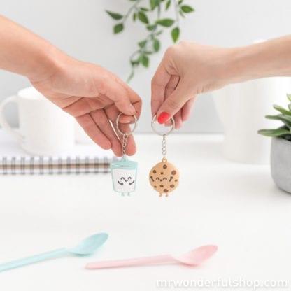 Porte-clés - Lait & Cookie 3D